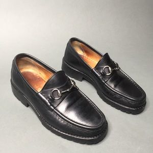 Gucci LugSole Moccasin Horsebit Leather Loafer 90s